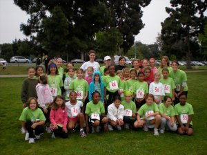Coached 40 girls to their first 5K with Girls on the Run